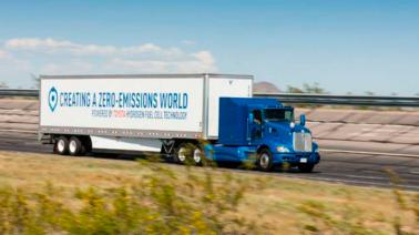 Toyota começa a testar caminhão movido a hidrogênio